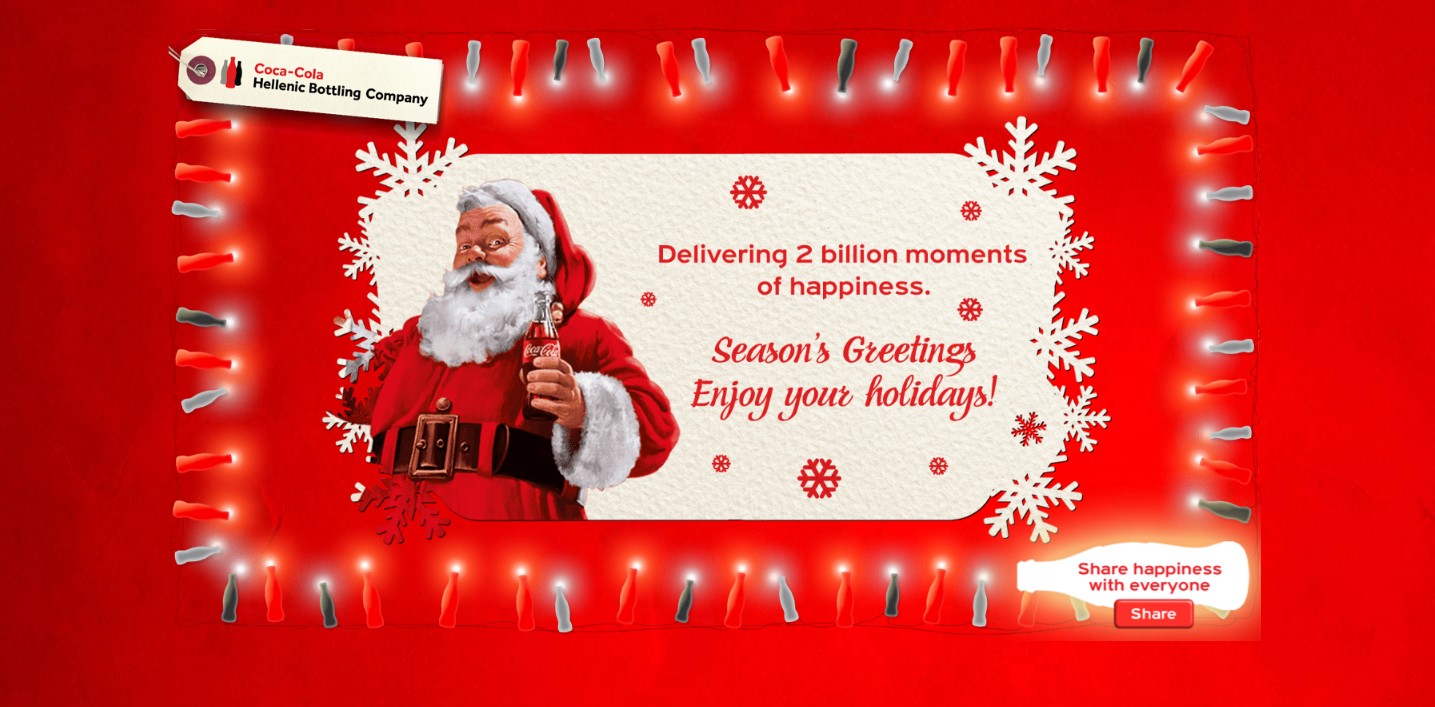 Christmas Card For Coca Cola Hbcsprint Integrated Marketing