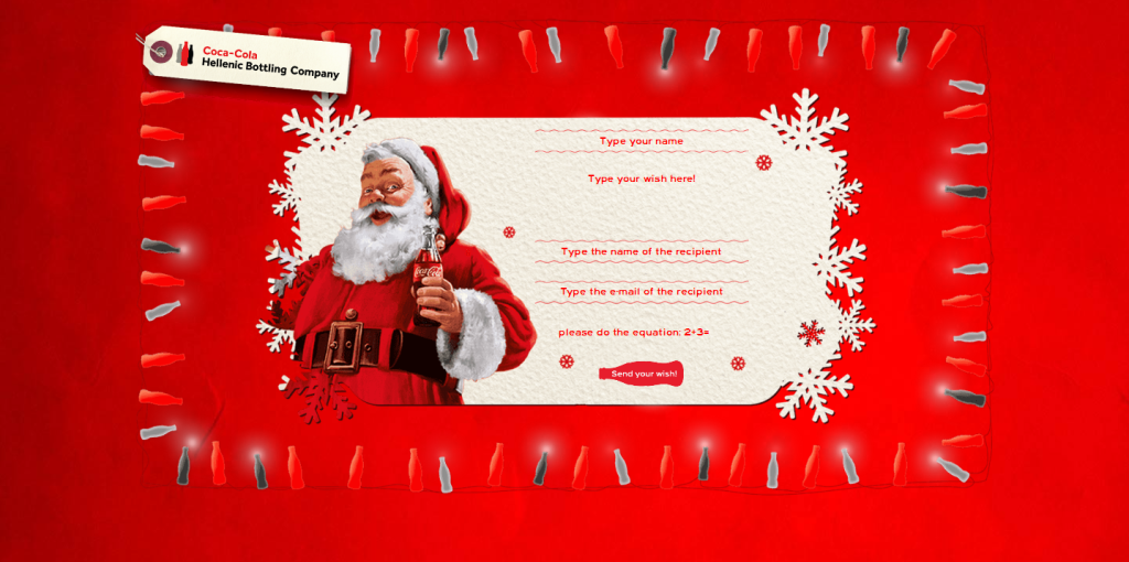 A shareable Christmas Card for Coca Cola HBC